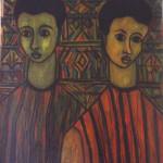 Peinture sur papier 45,5 x 33,5 cm